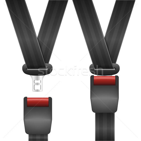 Açmak kapalı emniyet kemeri ayrıntılı örnek koltuk Stok fotoğraf © unkreatives