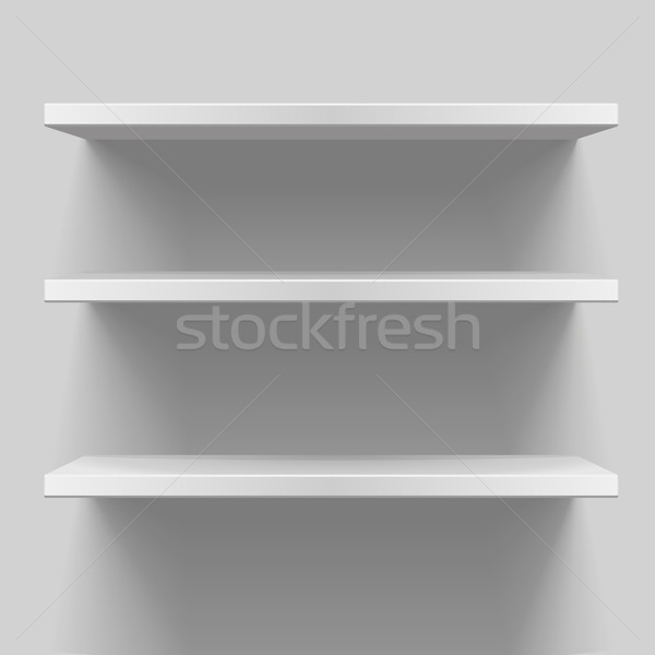 white shelves Stock photo © unkreatives