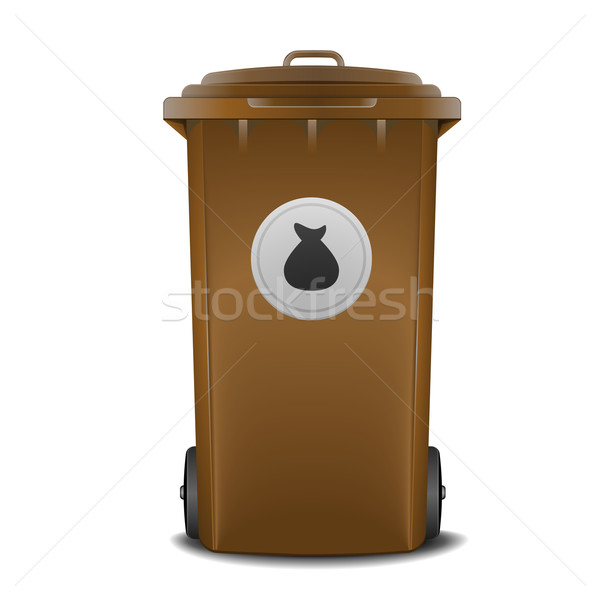 brown recycling bin Stock photo © unkreatives