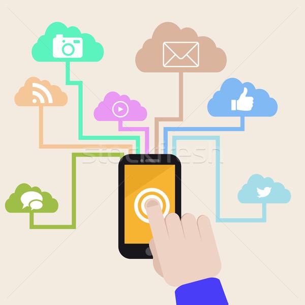 smartphone usability Stock photo © unkreatives