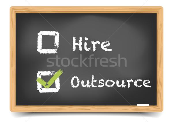 Blackboard Hire Outsource Stock photo © unkreatives