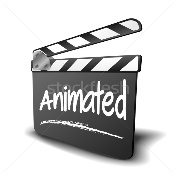 Clapper Board Animated Stock photo © unkreatives