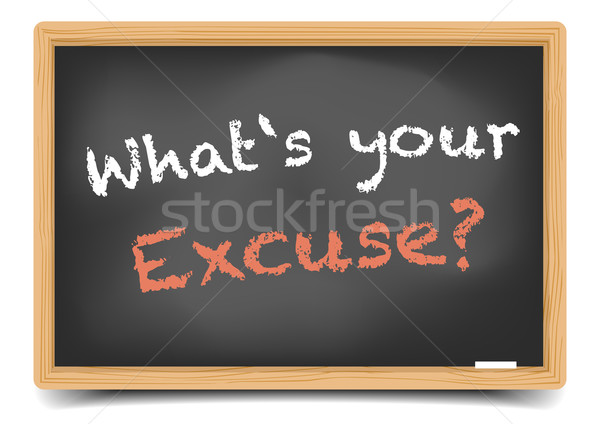 what Excuse Stock photo © unkreatives