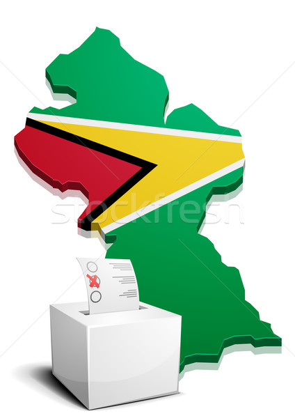Guyana részletes illusztráció térkép eps10 vektor Stock fotó © unkreatives