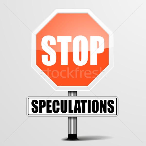 Stop részletes illusztráció piros felirat eps10 Stock fotó © unkreatives