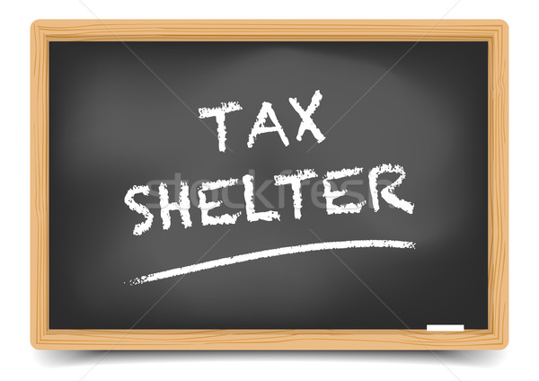 Blackboard Tax Shelter Stock photo © unkreatives