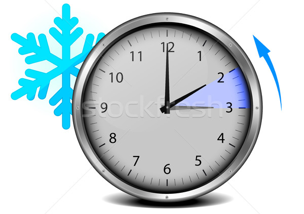 switch to winter time Stock photo © unkreatives