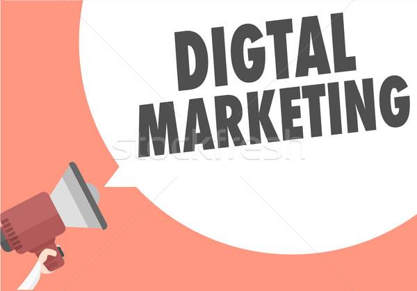 Digital comercialización ilustración megáfono texto Foto stock © unkreatives