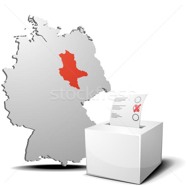vote germany saxony-anhalt Stock photo © unkreatives