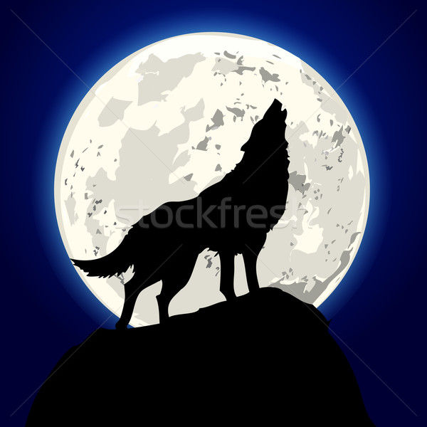 howling wolf Stock photo © unkreatives