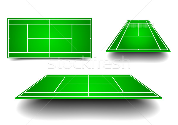tennis court with perspective Stock photo © unkreatives