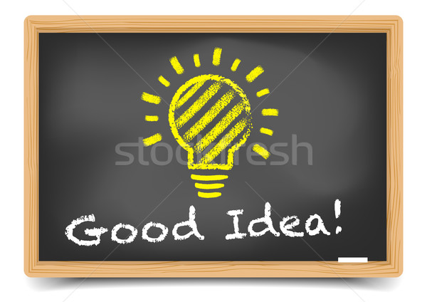 Blackboard Good Idea Stock photo © unkreatives