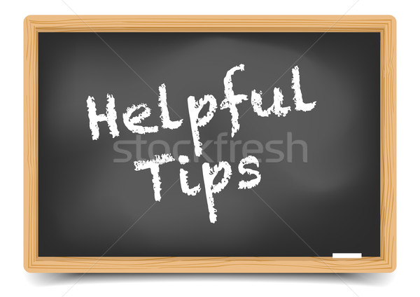 Blackboard Helpful Tips Stock photo © unkreatives