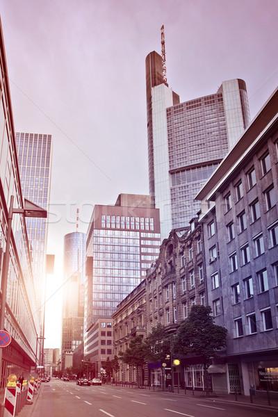 улице Финансовый район Франкфурт основной Германия Сток-фото © unkreatives