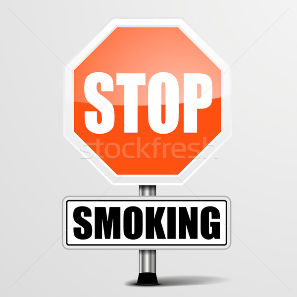 Roadsign Stop Smoking Stock photo © unkreatives