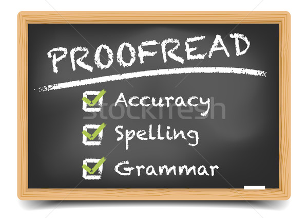 Blackboard Proofread Stock photo © unkreatives