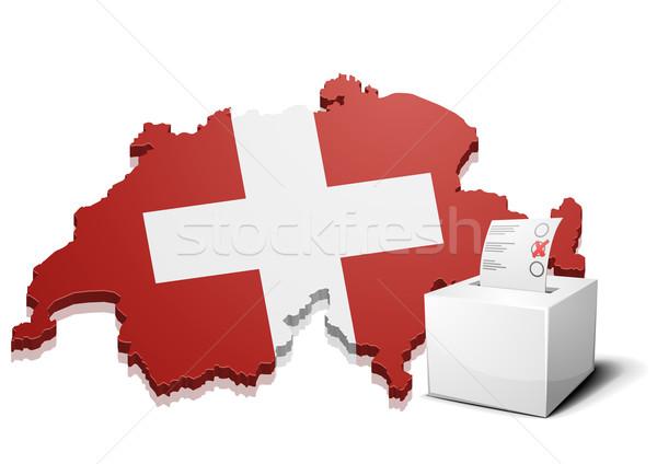 Svizzera dettagliato illustrazione mappa eps10 vettore Foto d'archivio © unkreatives