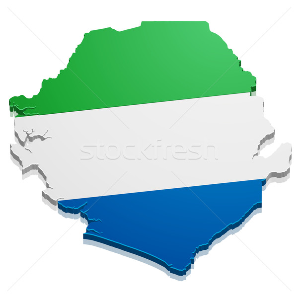 Map Sierra Leone Stock photo © unkreatives