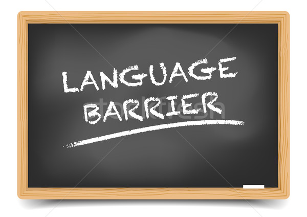 Blackboard Language Barrier Stock photo © unkreatives