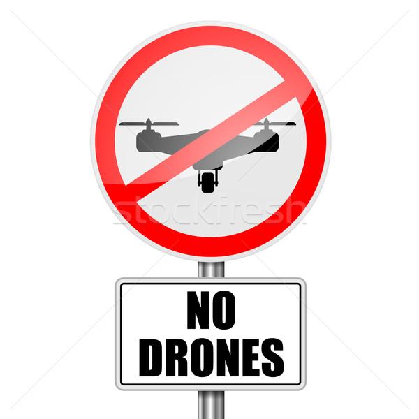 RoadSign No Drones Stock photo © unkreatives