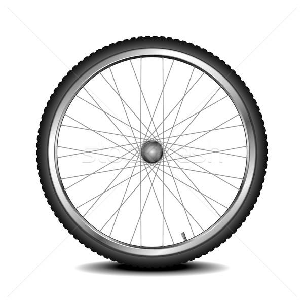 Bisiklet tekerlek ayrıntılı örnek bisiklet eps Stok fotoğraf © unkreatives