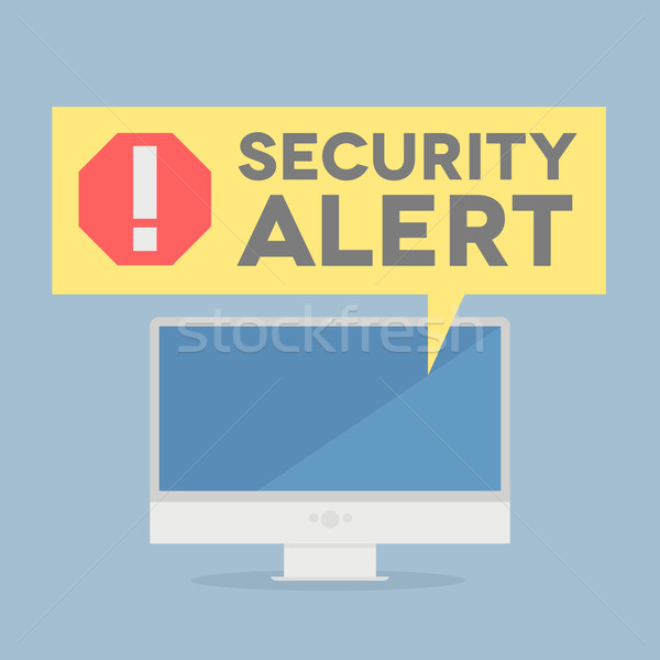 Security Alert Stock photo © unkreatives