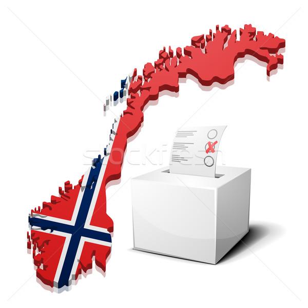 ノルウェー 詳しい 実例 地図 eps10 ベクトル ストックフォト © unkreatives