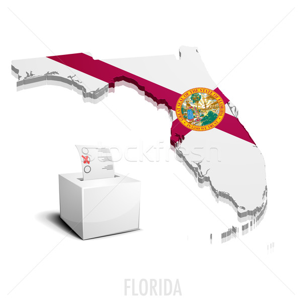 Térkép Florida részletes illusztráció eps10 vektor Stock fotó © unkreatives