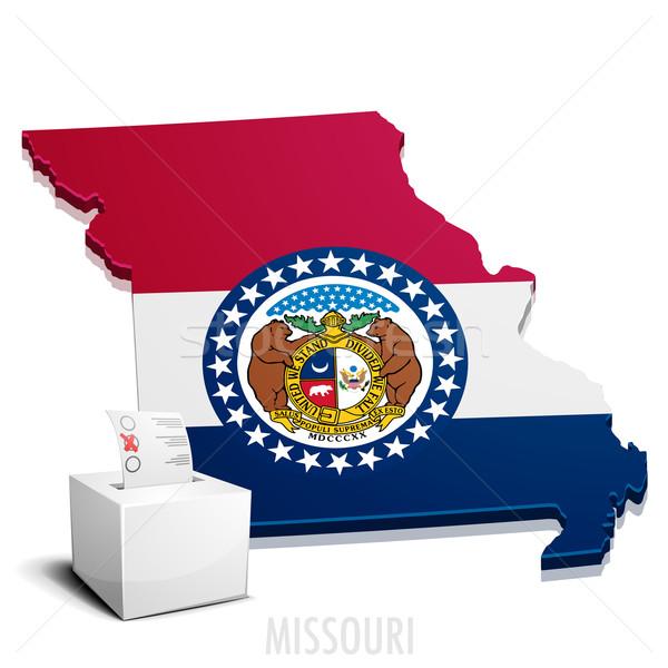 Carte Missouri détaillée illustration eps10 vecteur Photo stock © unkreatives
