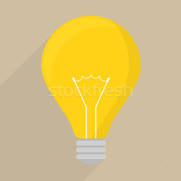 simple lightbulb icon Stock photo © unkreatives