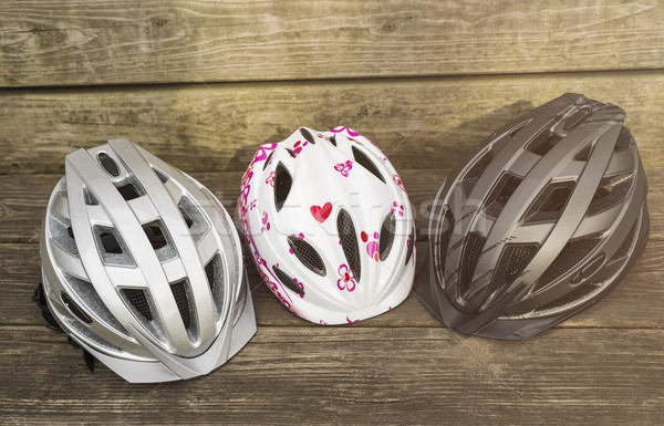 different bicycle helmets Stock photo © unkreatives