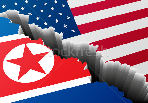 Crack North Korea USA Stock photo © unkreatives