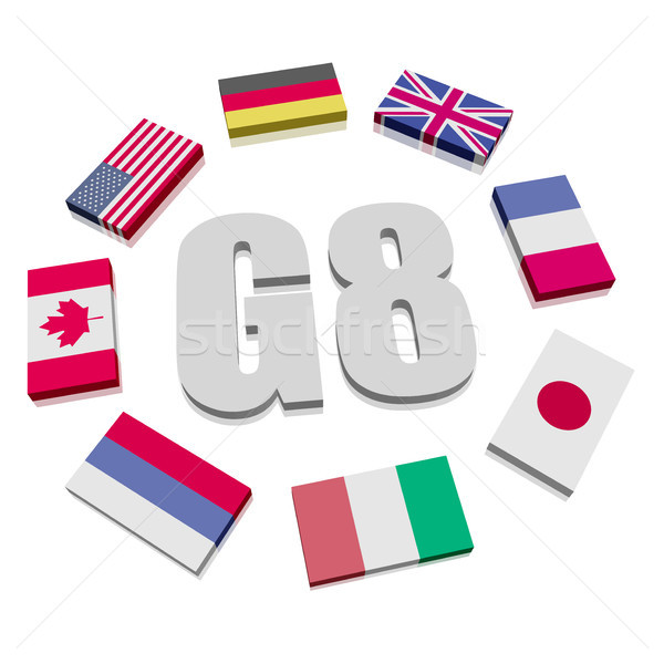 Group of Eight Flags Stock photo © unkreatives