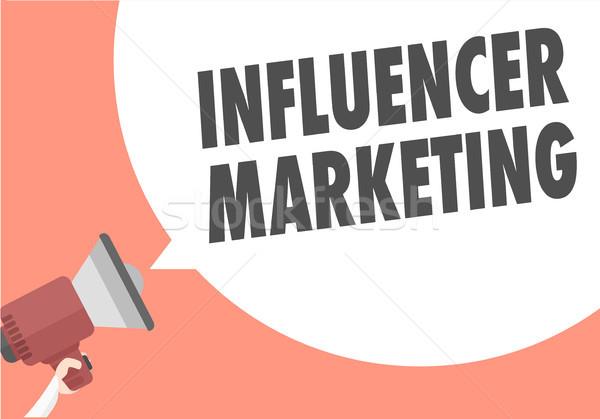 Megaphone Influencer Marketing Stock photo © unkreatives