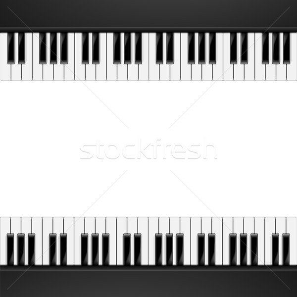 Piano Frame Background Stock photo © unkreatives