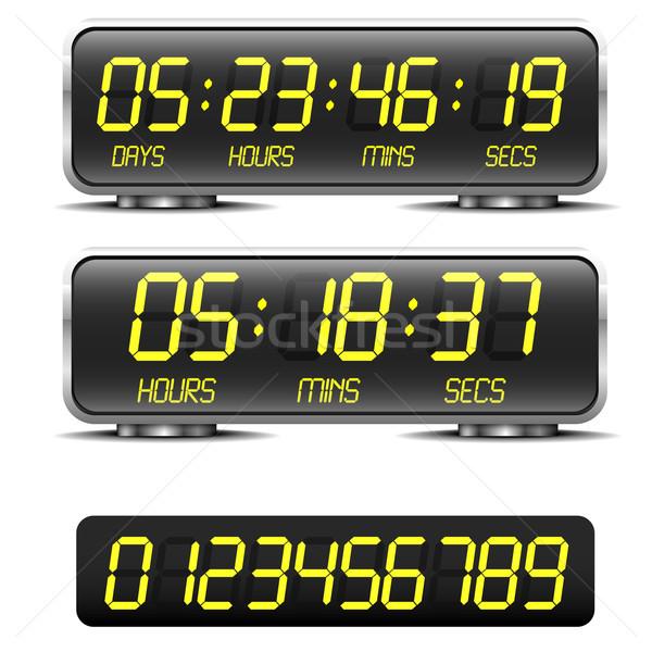 Conto alla rovescia timer dettagliato illustrazione digitale business Foto d'archivio © unkreatives