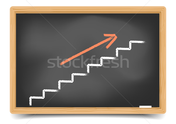 Blackboard Staircase Stock photo © unkreatives