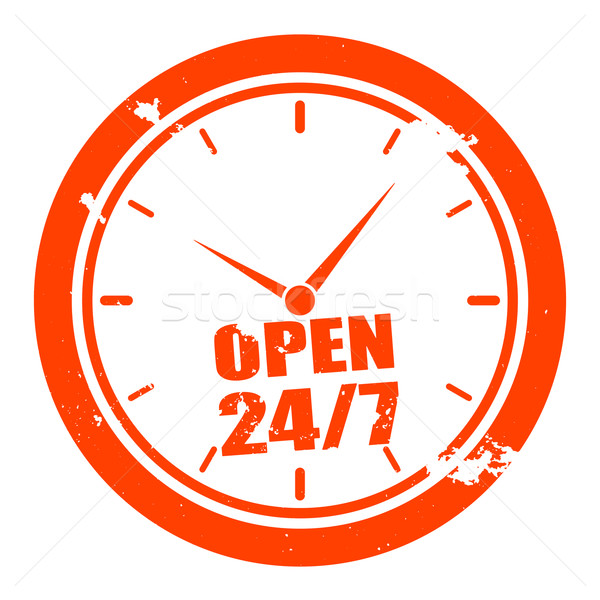 open 24/7 Stock photo © unkreatives