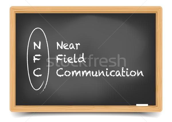 Blackboard NFC Stock photo © unkreatives