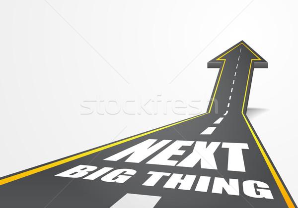 Próximo grande detalhado ilustração rodovia estrada Foto stock © unkreatives