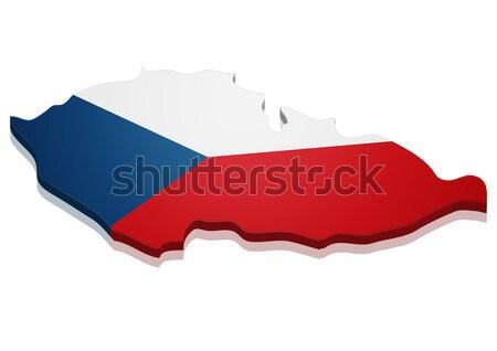 Stockfoto: Kaart · Costa · Rica · gedetailleerd · illustratie · vlag · eps10