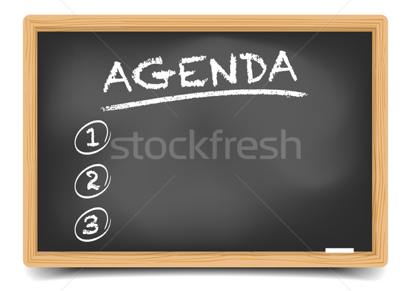 List Agenda Stock photo © unkreatives