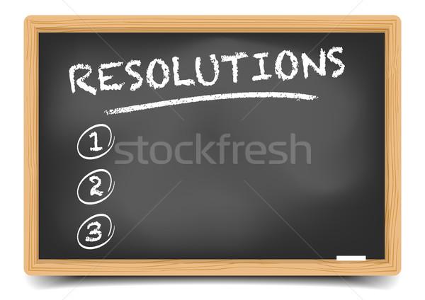 List Resolutions Stock photo © unkreatives