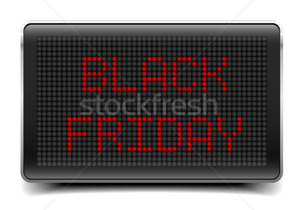 LED Board Black Friday Stock photo © unkreatives