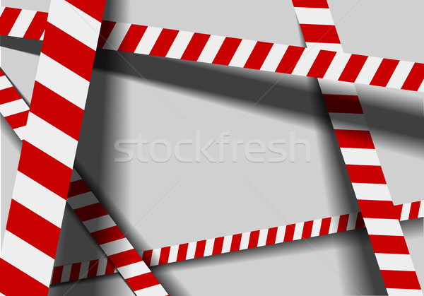 red white warning lines Stock photo © unkreatives