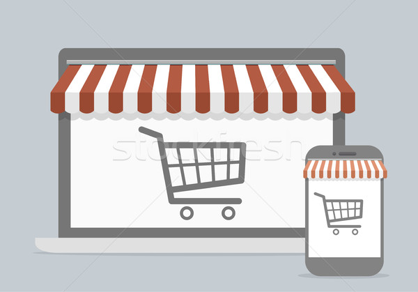 mobile shopping concept Stock photo © unkreatives