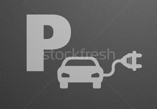 駐車場 詳しい 実例 電気自動車 eps10 ベクトル ストックフォト © unkreatives