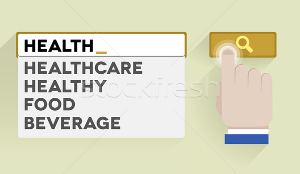 search health Stock photo © unkreatives