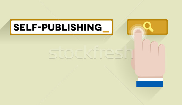search self-publishing Stock photo © unkreatives