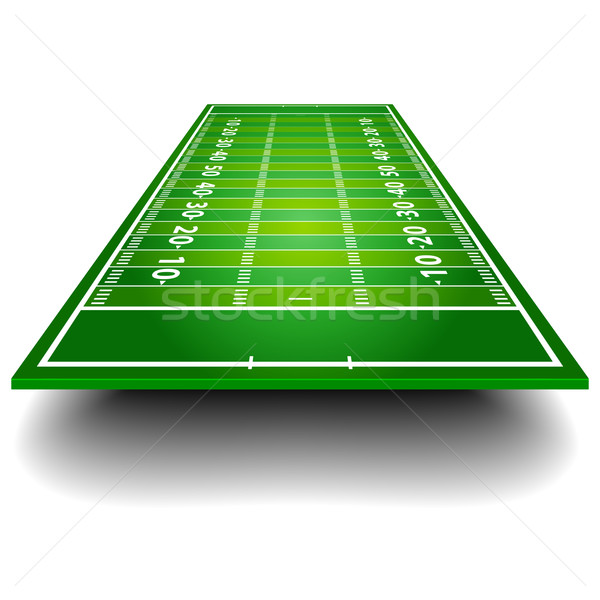 Stock photo: American Football Field with perspective
